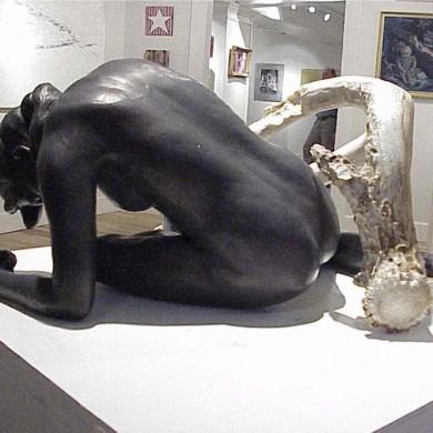 "Calypso's Lament, 2000, Bronze, 15"" x 20"" x 17"""