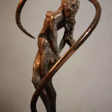 "DNA, 2010, Bronze on Marble, 24"" x 8"" x 8"""