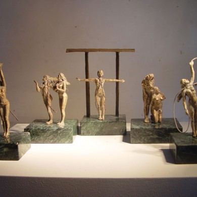 Priestess Collection, 2010, Bronze on Marble