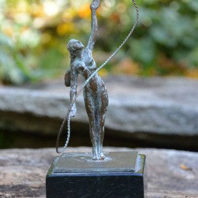 """Infinity, 2010, Bronze on Marble, 6"""" x 3"""" x 3"""""""