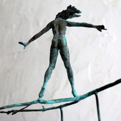 "The Choice, 2010, Bronze, 13"" x 16"" x 6"""